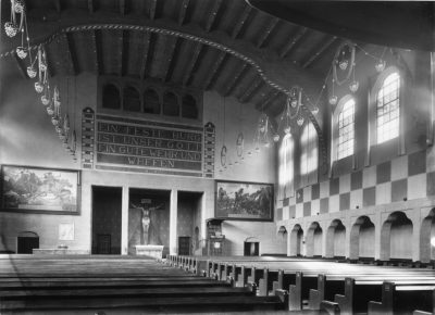 Innenansicht der Pauluskirche vor 1970