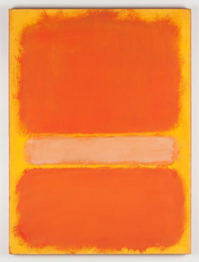 Pressefoto_Mark Rothko_Untitled (Orange White Orange)_1969_Papier, auf Leinwand © Kate Rothko-Prizel & Christopher Rothko_VG Bild-Kunst, Bonn 2016_Foto Oleg Kuchar