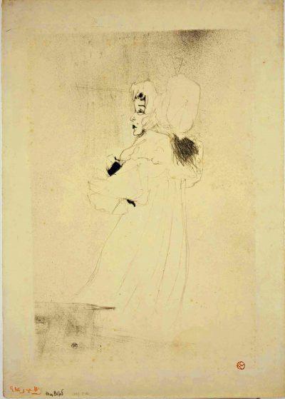 Graphische Sammlung_Henri de Toulouse Lautrec_Miss May Belfort_1895