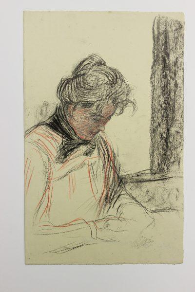 Max Arthur Stremel, Porträtstudie einer Frau 1949