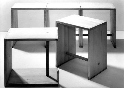 Max Bill - Hans Gugelot - Paul Hildinger_Ulmer Hocker_1954_© Museum Ulm - HfG-Archiv_Foto Ernst Hahn