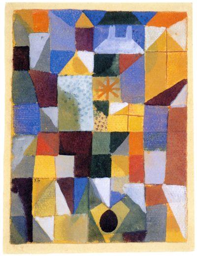 Paul Klee_Städtische Komposition mit gelben Fenstern_1919_Aquarell_Stiftung Sammlung Kurt Fried Museum Ulm