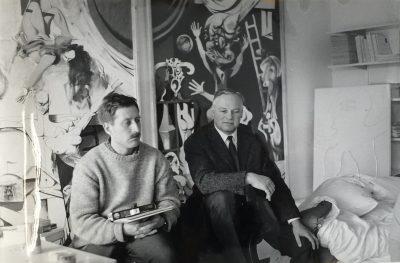 Pressefoto_Horst Antes und Kurt Deschler_1965_Sammlung Familie Deschler