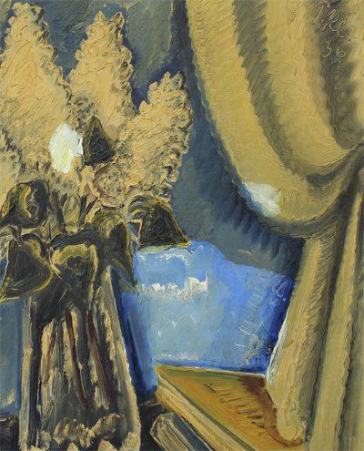 Restaurierung_Detailbild eines gerenigten Gemäldes_© Museum Ulm