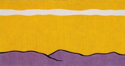 Roy Lichtenstein_Yellow Sky_1966_Kunstharzfarbe auf Baumwolle_Stiftung Sammlung Kurt Fried_Museum Ulm