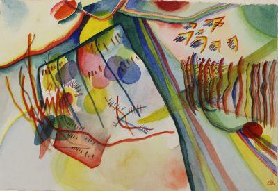 Wassily Kandinsky, Ohne Titel, 1912, Aquarell, Museum Ulm