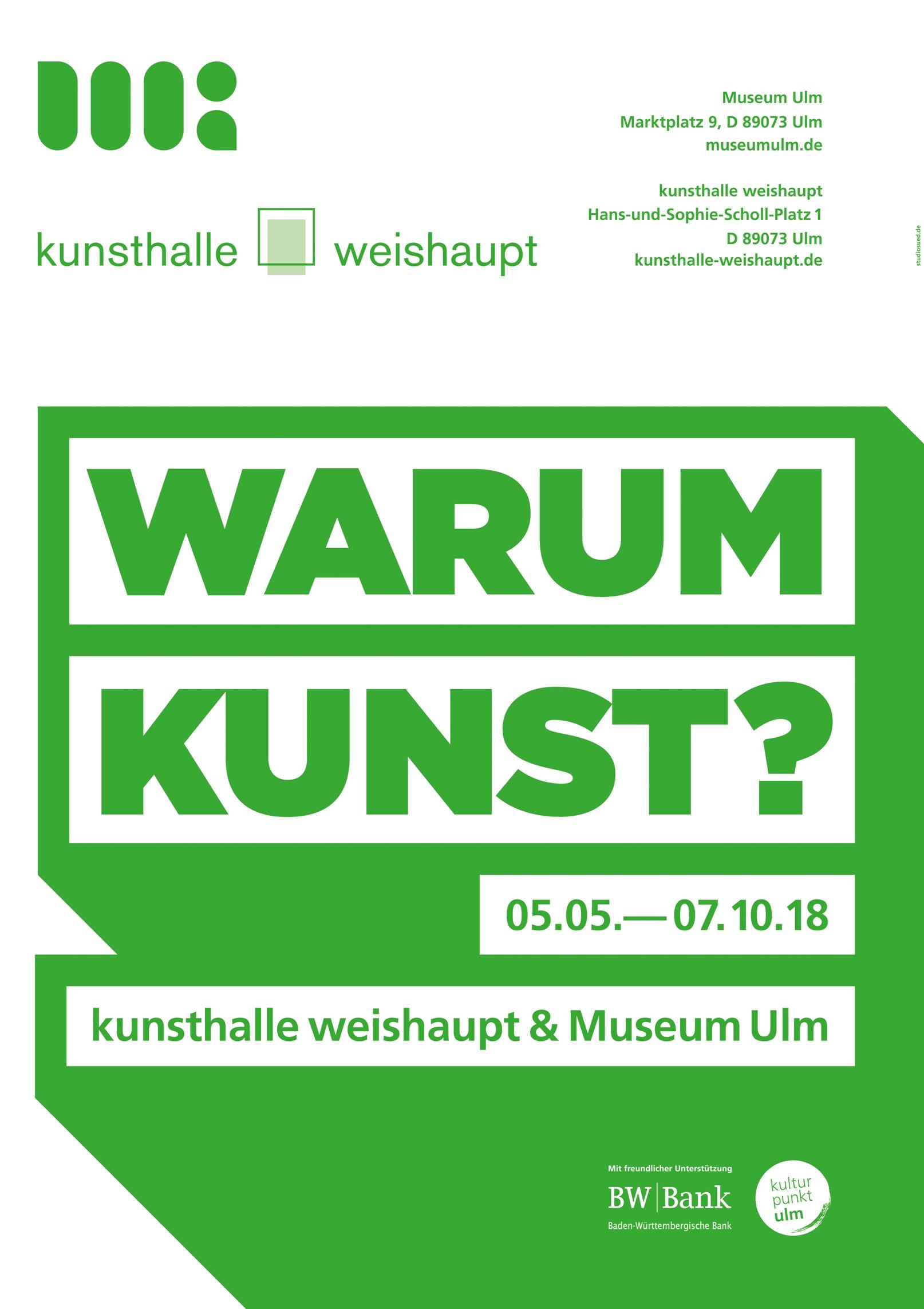 Plakat Warum Kunst?