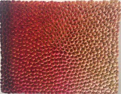 Pressefoto Zhuang Hong Yi, Color Changing Work, o. J, Reispapier, Tusche, Acryl auf Leinwand_Privatbesitz