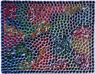 Zhuang Hong Yi, Color Changing Work, 2017, Reispapier, Tusche und Lack auf Leinwand, Courtesy Martina Kaiser Cologne Contemporary Art