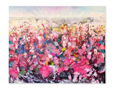 Zhuang Hong Yi, Landscape, 2017, Reispapier, Tusche und Acryl auf Leinwand, Courtesy Martina Kaiser Cologne Contemporary Art