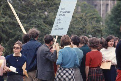 Demonstration vor dem Landtag 1968 (3)