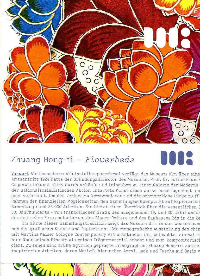 Zhuang Hong Yi - Flowerbeds, Ausstellungskatalog
