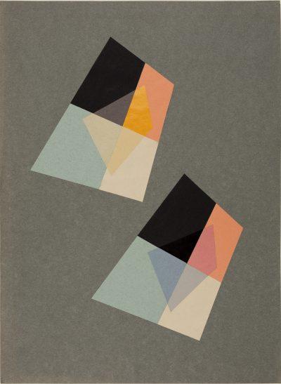 Transparenz, HfG-Grundlehre, 1953, Studentin Ingela Albers, Dozent Walter Peterhans