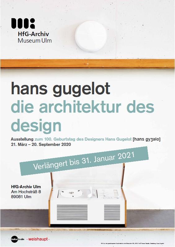 Ausstellungsplakat Die Architektur des Design