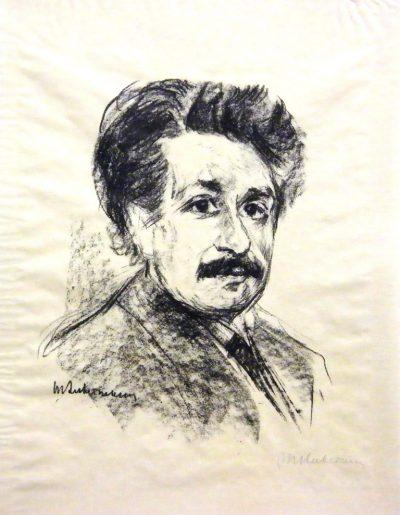 Max Liebermann_Bildnis Albert Einstein_1925, Lithografie_Foto Museum Ulm
