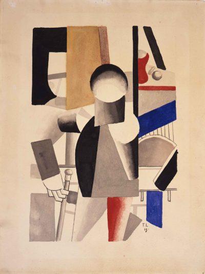 Fernand Léger_Studie Les trois camerades_1919, Gouache auf Papier_Foto Museum Ulm