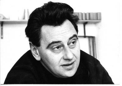 Hans Gugelot in der HfG, 1962. Foto Wolfgang Siol, © HfG-Archiv - Museum Ulm