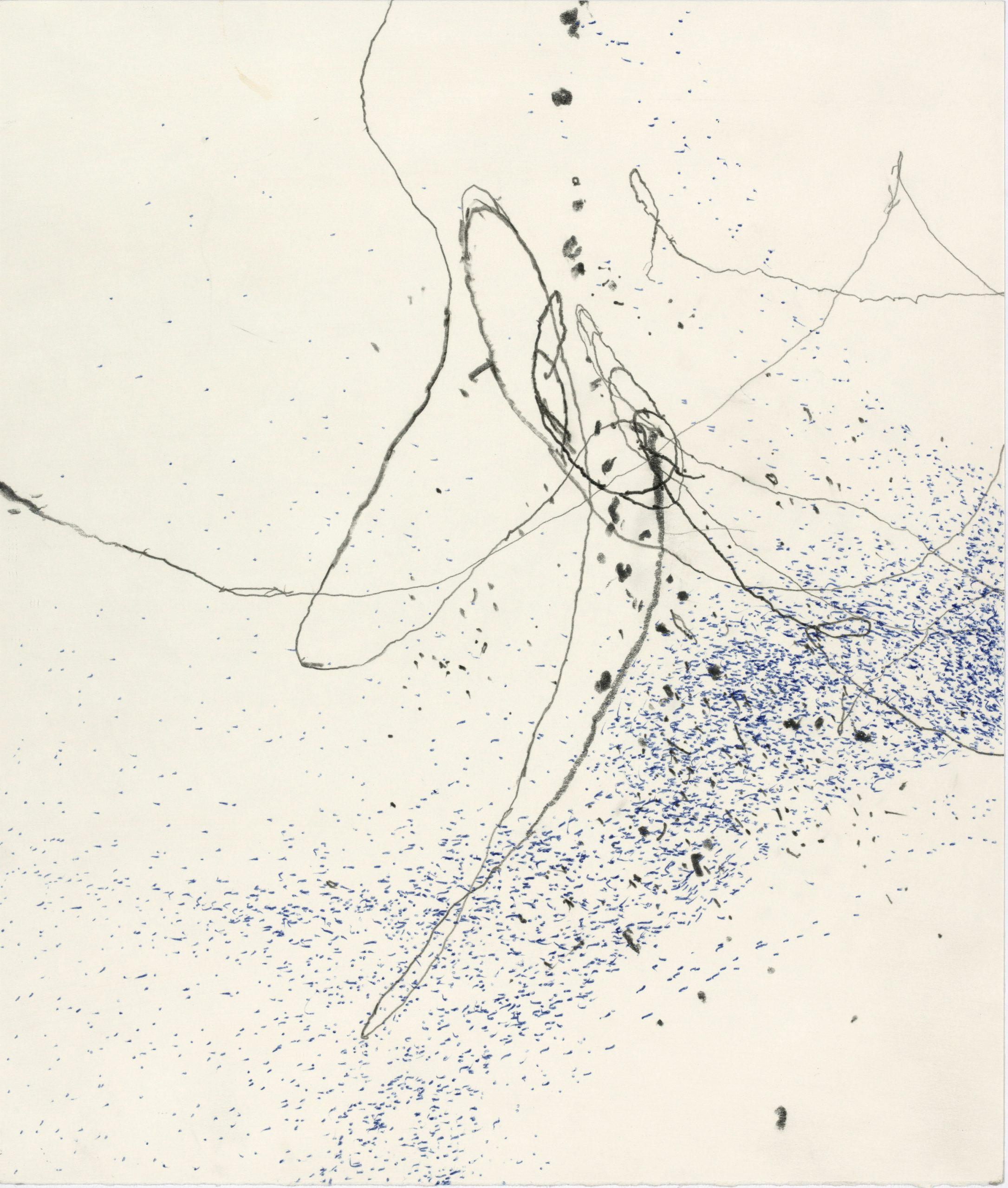 Paco Knöller, es weiss voneinander, Bleistift und Kugeschreiber auf Papier, 2019, Foto Jochen Littkemann, Courtesy Galerie Thomas Schulte Berlin