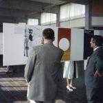 HfG-Ausstellung in der Mensa der Hochschule, Fotograf Klaus Wille, 1958, (c) HfG-Archiv Ulm