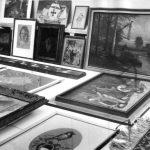 """Ausstellungsfoto (3) """"Das schönste Bild bei mir zuhaus"""", studio f, Olgastraße, 1971, Foto Simon Resch, (c) SWP-Archiv"""