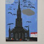 Konstantin Wagner (10 Jahre), Ulmer Münster bei Nacht, 2020, Martina Wagner