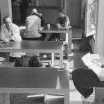 Blick in die Mensa der HfG, 1956, Foto Ernst Scheidegger, Blick in die Mensa der HfG, 1956, Foto Ernst Scheidegger, © Ernst-Scheidegger-Archiv Ernst-Scheidegger-Archiv